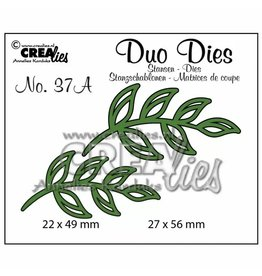 Crealies Crealies Duo Dies no,37A blaadjes 5 spiegelbeeldig