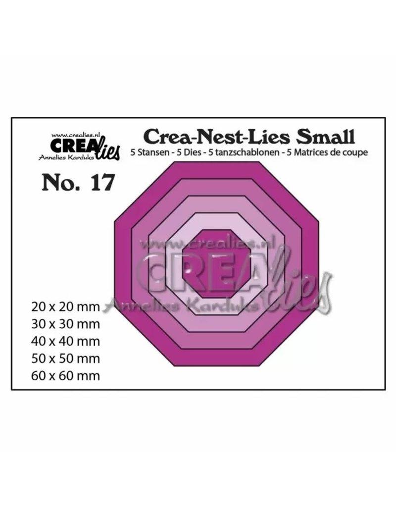 Crealies Crea-Nest-Lies Small snijmallen no,17 5x achthoek