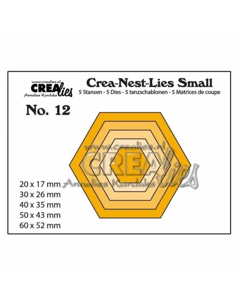 Crealies Crea-Nest-Lies Small snijmallen no,12 zeshoeken