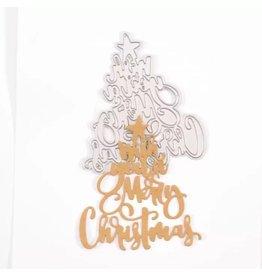 "Vaessen Creative Vaessen Creative • Snijmal ""Wish you a Merry Christmas"""