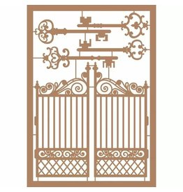 Vaessen Creative Vaessen Creative • Kraftliner Brown A5 Keys + Gate