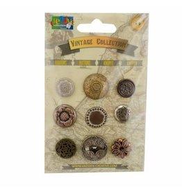 Vaessen Creative Vaessen Creative • Vintage buttons assortiment bronze 9pcs