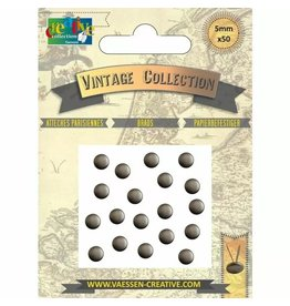 Vaessen Creative Vaessen Creative • Brads Vintage 5mm Antiek Zilver 50pcs