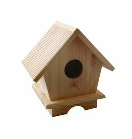 Vaessen Creative Vaessen Creative • Houten pine vogelhuis 13x9x13cm