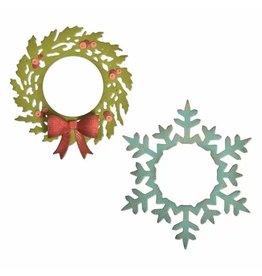 Sizzix Sizzix • Thinlits die set Wreath & snowflake