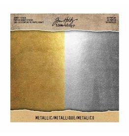 Tim Holtz · Idea-ology Idea-ology • Tim Holtz kraft stock 20,3x20,3cm x36 Metallic
