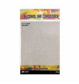 Tim Holtz · Ranger Ranger • Tim Holtz alcohol ink cardstock silver sparkle