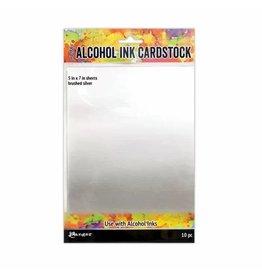 Tim Holtz · Ranger Ranger • Tim Holtz alcohol ink cardstock brushed silver