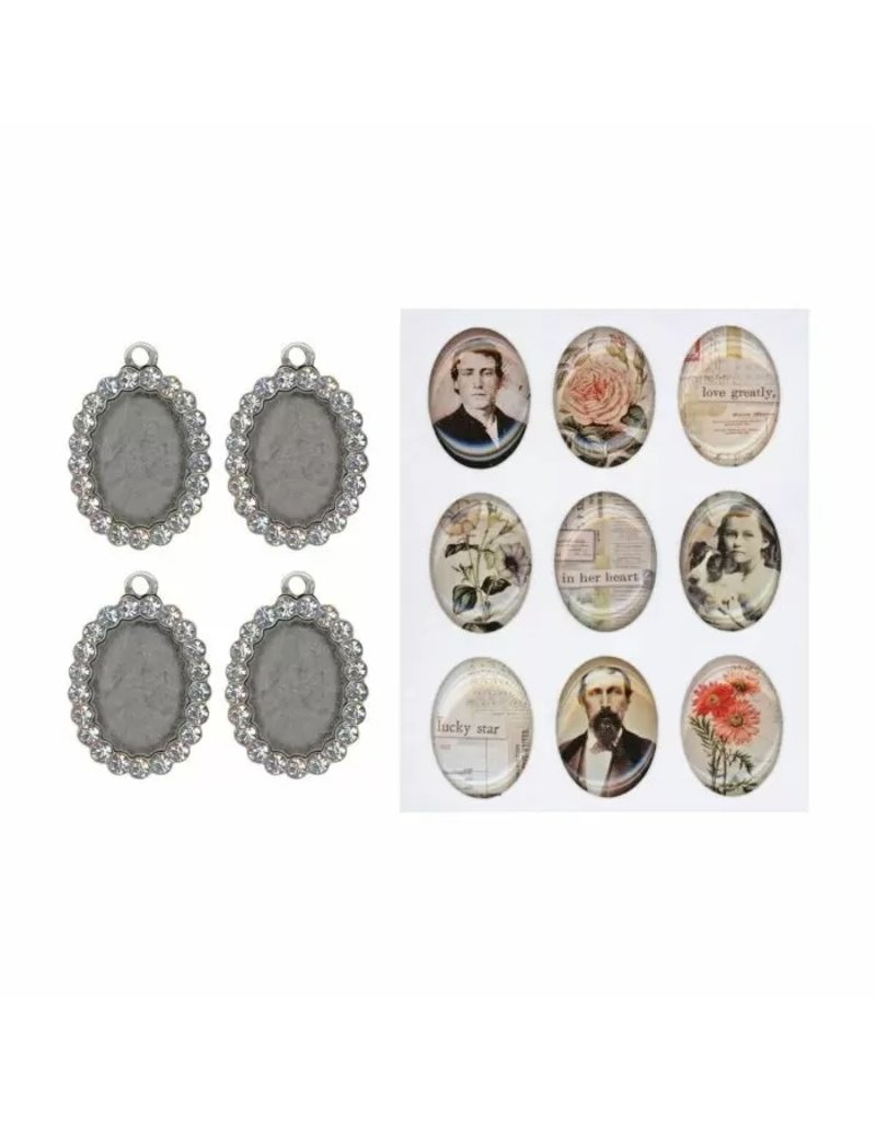 Tim Holtz · Advantus Advantus • Idea-ology jeweled charms  + epoxy sticker