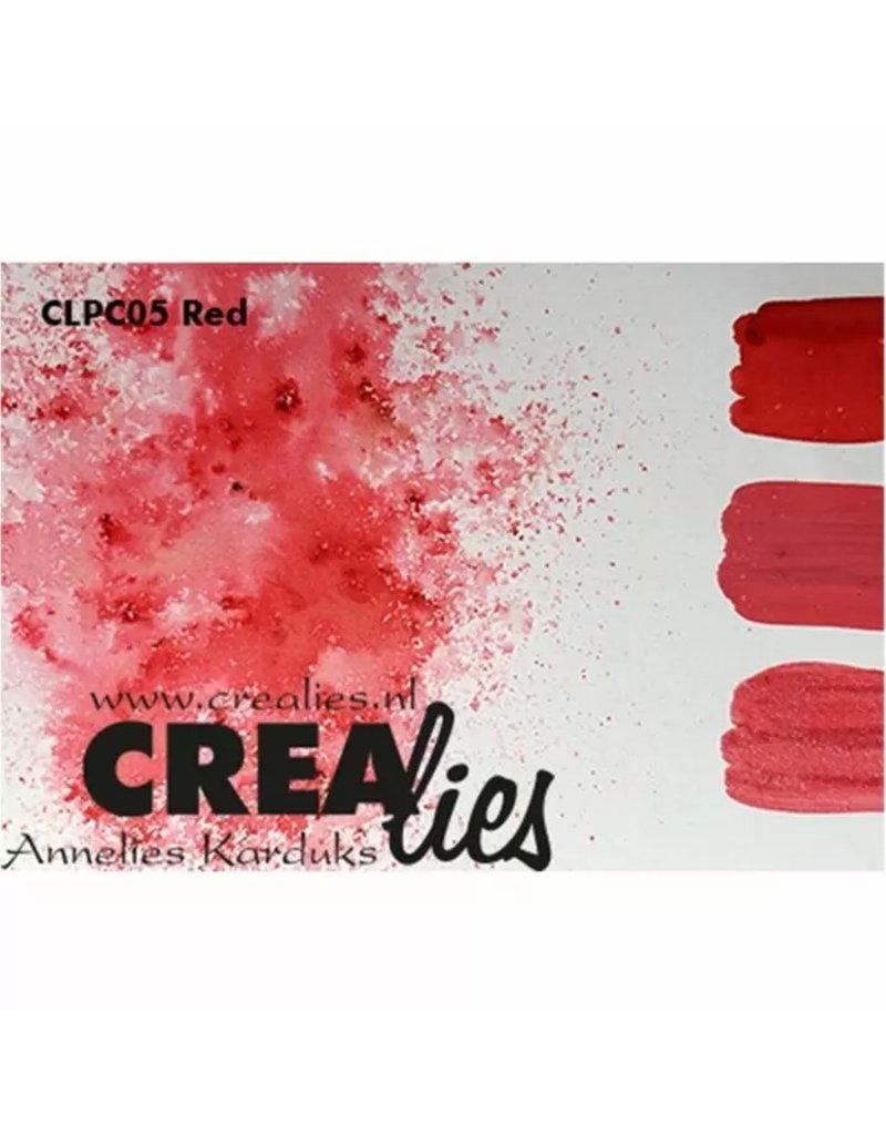Crealies Crealies • Pigment Colorzz Rood