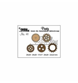 Crealies Crealies • Partz snijmal no.41 tandwielen klein 5x