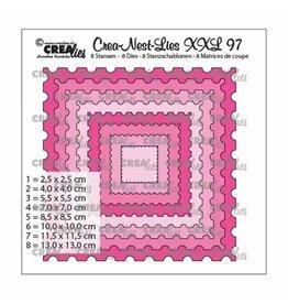 Crealies Crealies • Crea-Nest-Lies XXL nr.97 Postzegel vierkant (8x)