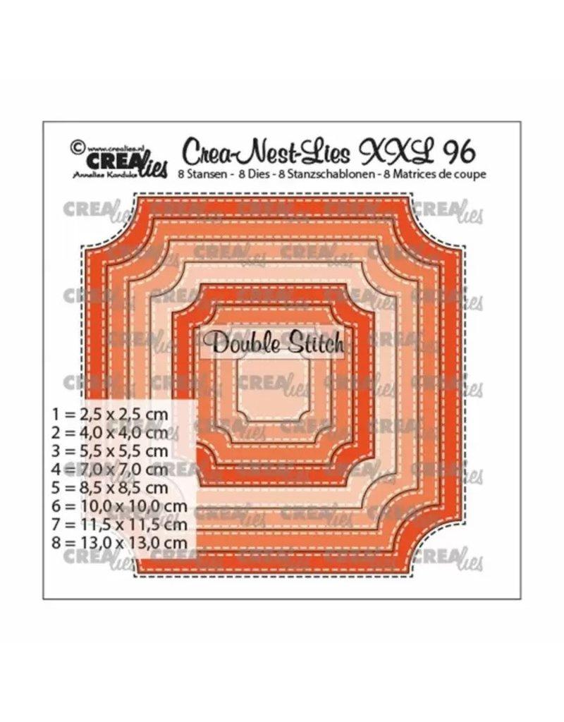Crealies Crealies • Crea-Nest-Lies XXL nr.96 Ticket stiksteek (8x)