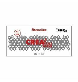 Crealies Crealies • Stencilzz no.202 wonky squares
