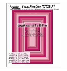 Crealies Crealies • Crea-Nest-Lies XXL gladde rechthoeken halve cm