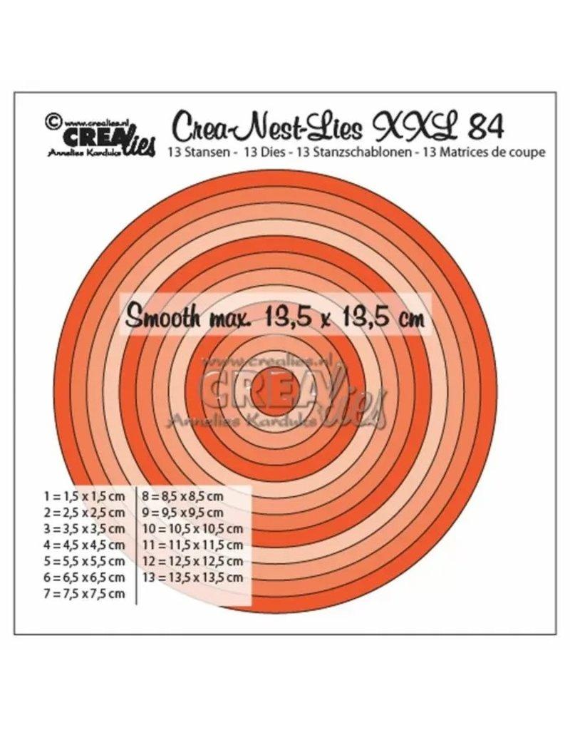Crealies Crealies • Crea-Nest-Lies XXL gladde cirkels halve cm