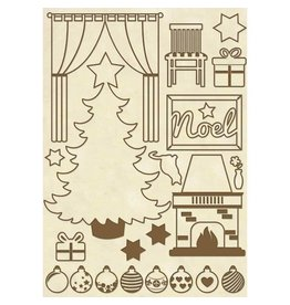 Stamperia Wooden frames A5 size - Christmas home