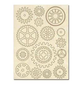 Stamperia Wooden frames A5 size - Gears