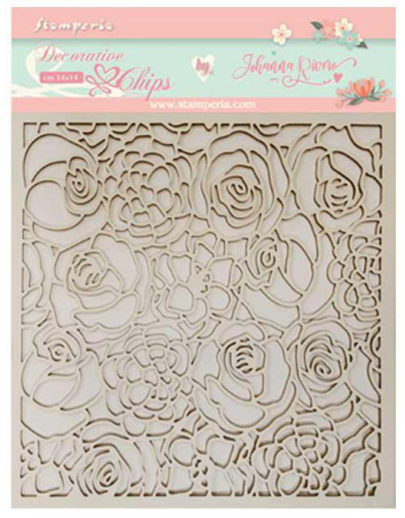 Stamperia Decorative chips 14x14cm. Texture of roses