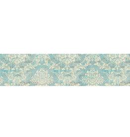 Stamperia Deco tape cm. 3x5m - Texture sur fond turquoise