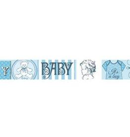 Stamperia Deco tape cm. 2x10m - Baby blue