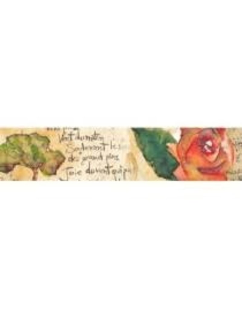 Stamperia Deco tape cm. 2x10m - Flowers and Poems