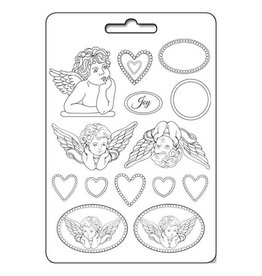 Stamperia Soft Mould A4 - Angels and hearts