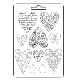 Stamperia Soft Mould A4 - Textured hearts