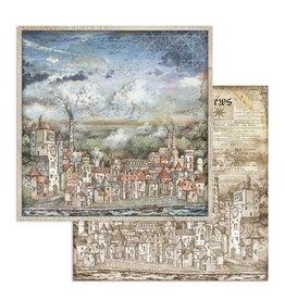 Stamperia Scrapbooking paper double face Sir Vagabond cityscape