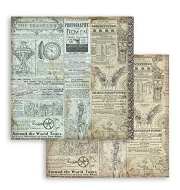 Stamperia Scrapbooking paper double face Sir Vagabond The Traveler