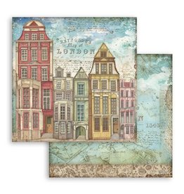 Stamperia Scrapbooking paper double face Lady Vagabond London houses