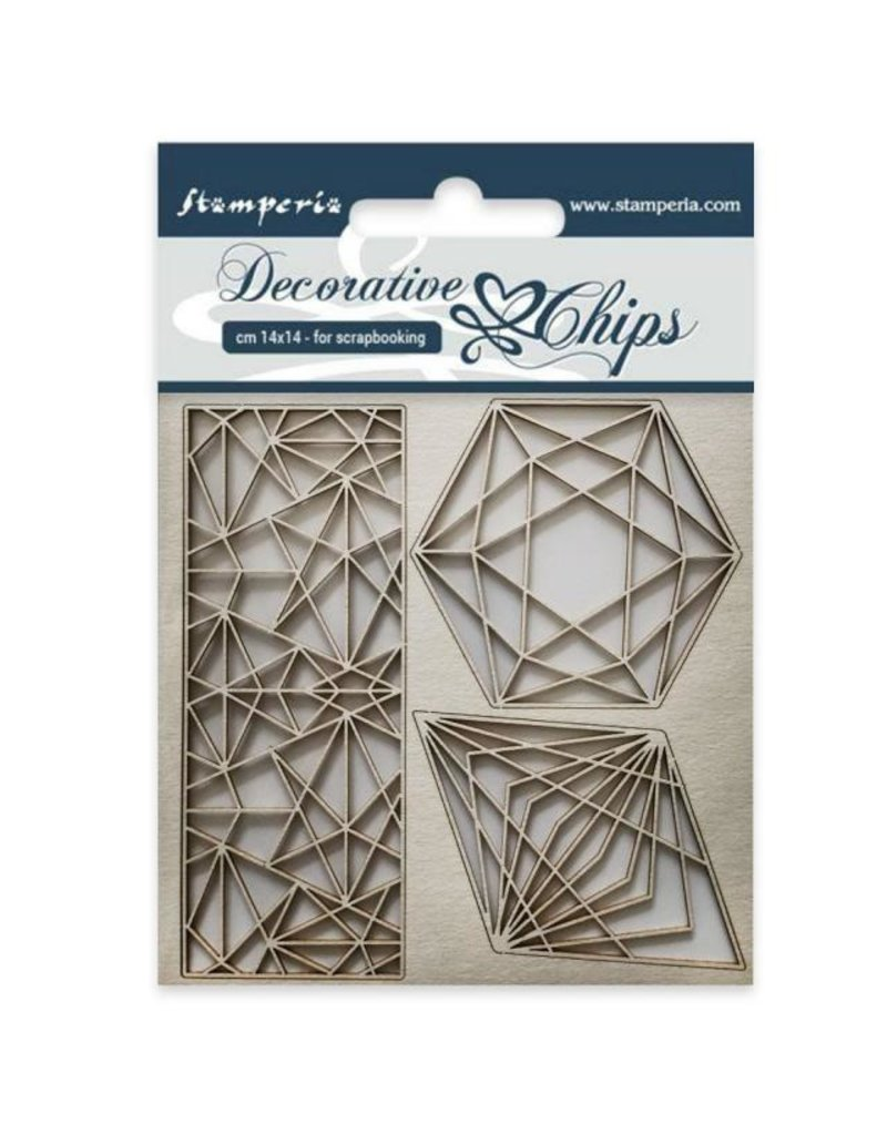 Stamperia  Decorative chips cm 14x14 Geometry