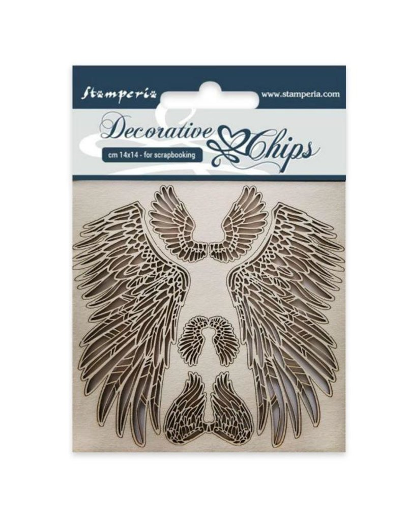 Stamperia Decorative chips cm 14x14 Wings