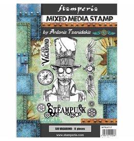 Stamperia Stamp cm 15x20 Sir Vagabond steampunk