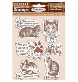 Stamperia HD Natural Stamp cm 14x18 Cats