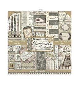 Stamperia Scrapbooking Mini Pad 10 sheets 20,3x20,3 cm  Calligraphy