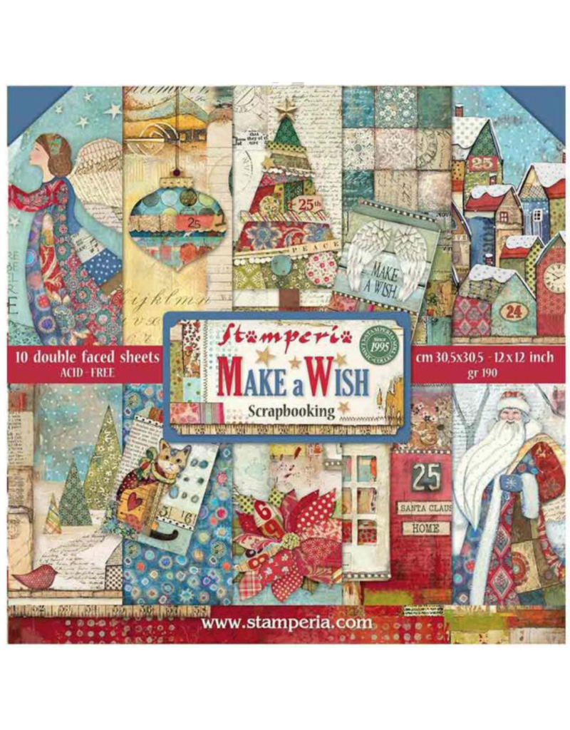 """Stamperia Block 22 sheets 30.5x30.5 (12""""x12"""") Double Face Make A Wish"""