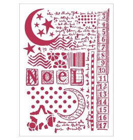 Stamperia Stencil D cm. 21x29,7 Moon star and writings