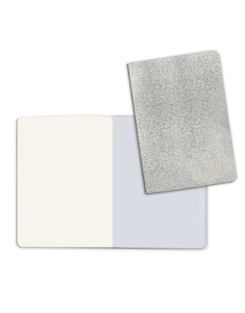 Stamperia A5 Notebook with Stone paper Silver (plain pages)