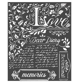 Stamperia Thick Stencil cm 20x25 Dear Diary