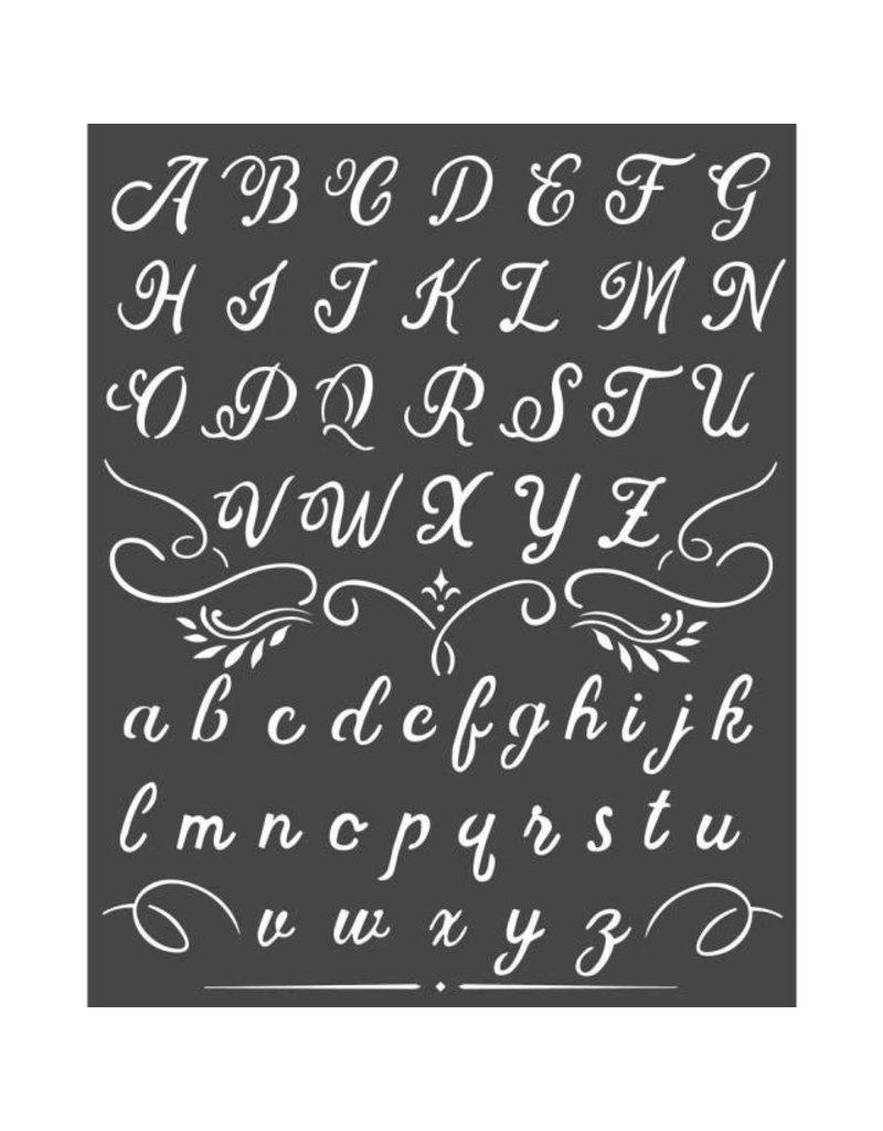 Stamperia Thick Stencil cm 20x25 Alphabet