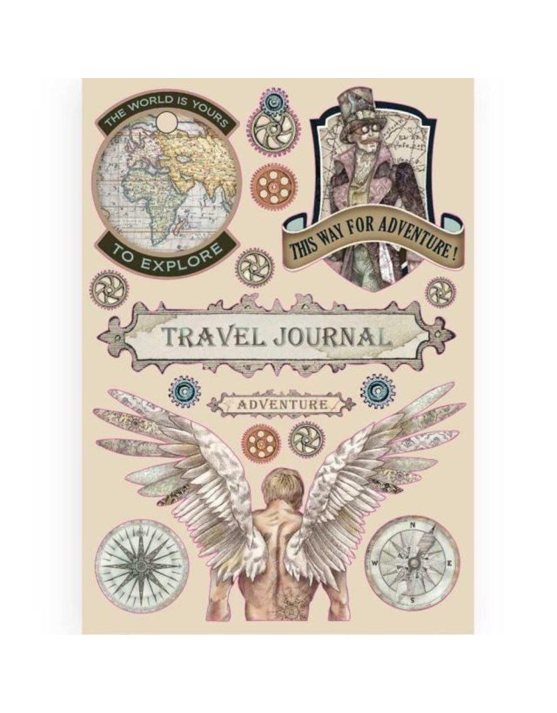 Stamperia Colored Wooden frame A5 - Sir Vagabond Travel Journal