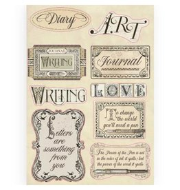 Stamperia Colored Wooden frame A5 - Calligraphy labels