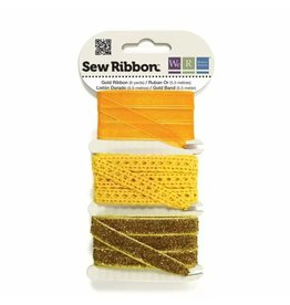 We R Memory Keepers We R Memory Keepers • Sew Ribbon ribbonset 5,5m Gold