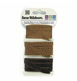 We R Memory Keepers We R Memory Keepers • Sew Ribbon ribbonset 5,5m Chocolate