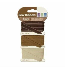 We R Memory Keepers We R Memory Keepers • Sew Ribbon ribbonset 5,5m Brown