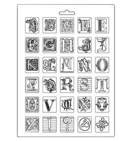 Stamperia Soft Mould A4 Alphabet