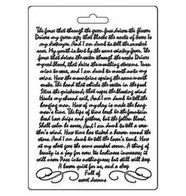 Stamperia Soft Mould A5 Manuscript