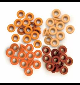 We R Memory Keepers We R Memory Keepers • Eyelet & washer standard Orange 60pcs