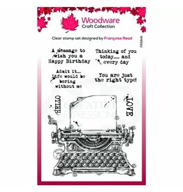 Woodware Woodware • Clear stempel singles Vintage typewriter